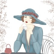 Link toBeautiful woman design elements vector 03 free