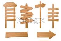 Link toBeautiful wooden sign vector