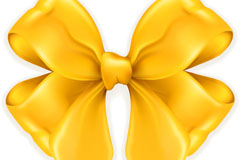 Link toBeautiful yellow bow vector