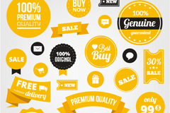 Link toBeautiful yellow sale tag vector