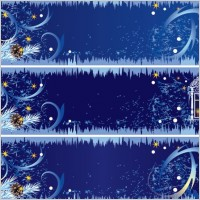 Link toBeautifully decorated christmas banner vector