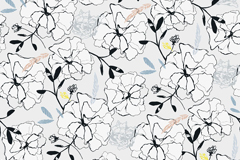 Link toBeautifully hand-painted floral background vector