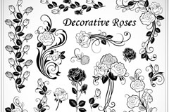Link toBeautifully hand-painted roses vector