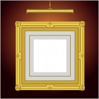 Link toBeautifully ornate pattern picture frame 03 vector