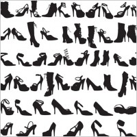Link toBeauty fashion shoes silhouettes vector graphic