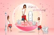 Link toBeauty shopping scene psd material