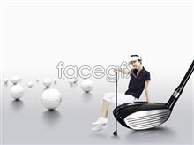 Link toBeauty voice golf course advertising posters psd stuff