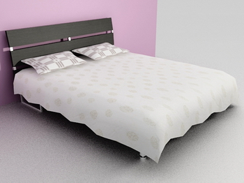 Link toBed bed 3d model of soft white wood simmons
