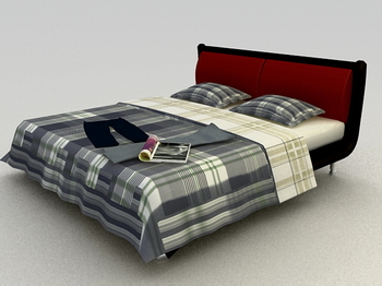 Link toBed soft bed 3d model of practical wood simmons