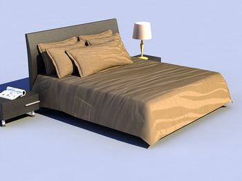 Link toBed soft bed 3d model of retro wood simmons