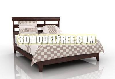 Link toBed soft bed solid wood furniture, home furniture 3d models