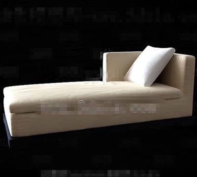 Link toBeige comfortable single sofa chair 3d model