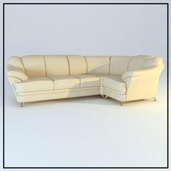 Link toBeige leather corner sofa 3d model