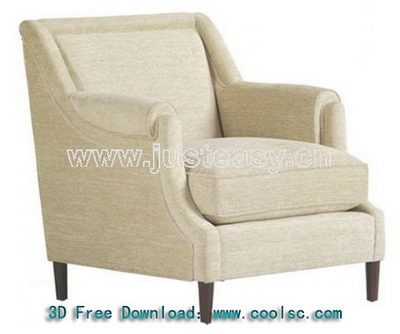 Link toBeige sofa chair high pad single 3d model (including materials)