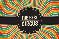 Link toBest poster circus stripes vector