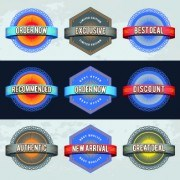 Link toBest retro labels design vector 02
