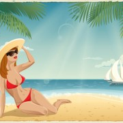 Link toBest summer holiday beach vector background 01 free