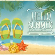 Link toBest summer holiday beach vector background 03 free