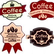 Link toBest vintage coffee labels vector 04
