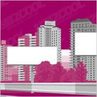 Link toBig banner on modern city