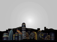 Link toBig city skyline vector free