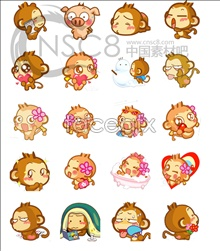 Link toBig giggle monkey desktop icons