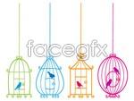 Link toBird and birdcage vector