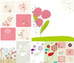 Link toBird and flower illustrations vector
