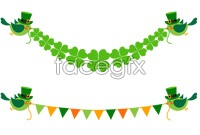 Link toBird and the four-leaf clover ornament vector