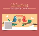 Bird lovers face book cover vector