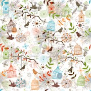 Link toBirdcages and birds seamless pattern vector 02 free
