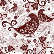 Link toBirds and floral seamless pattern vector free