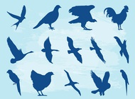 Link toBirds silhouette set vector free