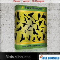 Link toBirds silhouettes free vector and photoshop brush