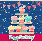 Link toBirthday cake clipart vector