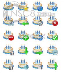 Birthday cake computer icons