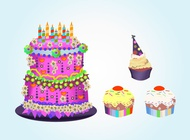 Link toBirthday cakes vector free