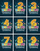 Link toBirthday card number vector