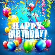 Link toBirthday colored balloons with colorful ribbon background vector 03 free