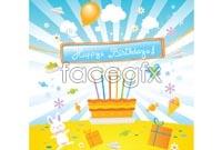 Birthday theme vector