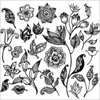 Link toBlack & white flower vectors