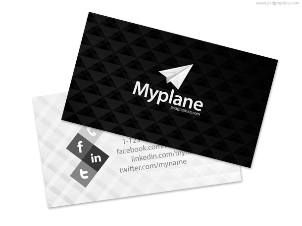 Link toBlack and white business card template psd