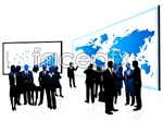 Link toBlack and white business people vector