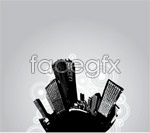 Link toBlack and white city 2 vector
