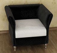 Link toBlack and white cushion single sofa 3d model