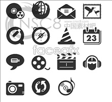 Link toBlack and white desktop icons