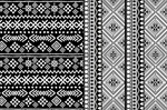 Black and white ethnic patterns vector