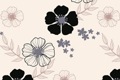 Link toBlack and white floral design vector