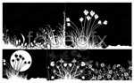 Link toBlack and white flower sketches vector
