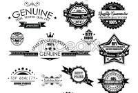 Link toBlack and white label badge vector